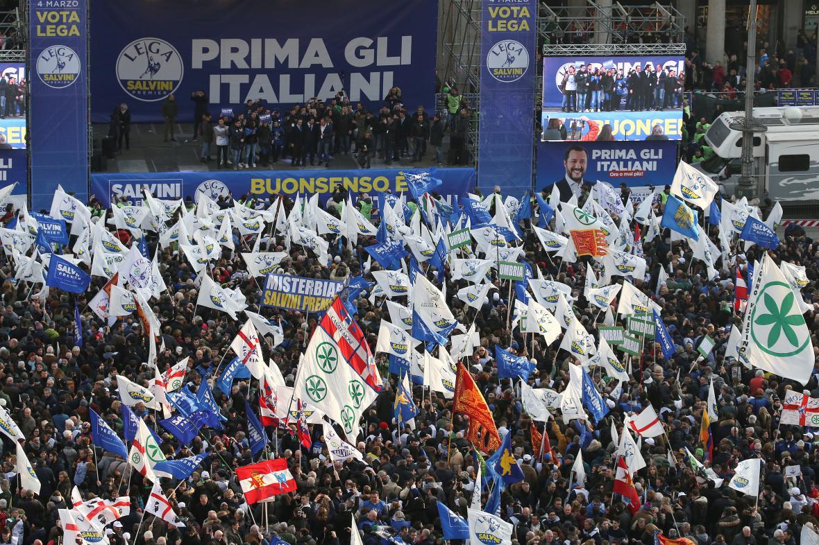 Demonstrace v Miláně