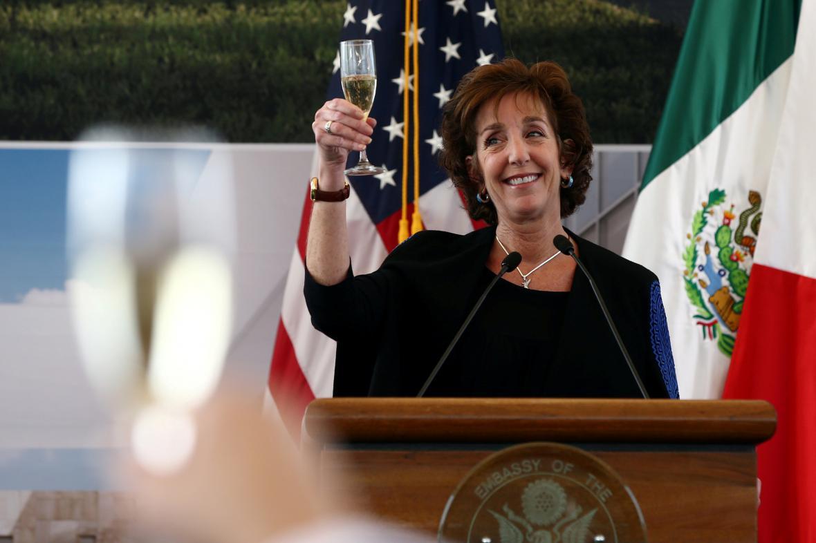 Americká velvyslankyně v Mexiku Roberta Jacobsonová