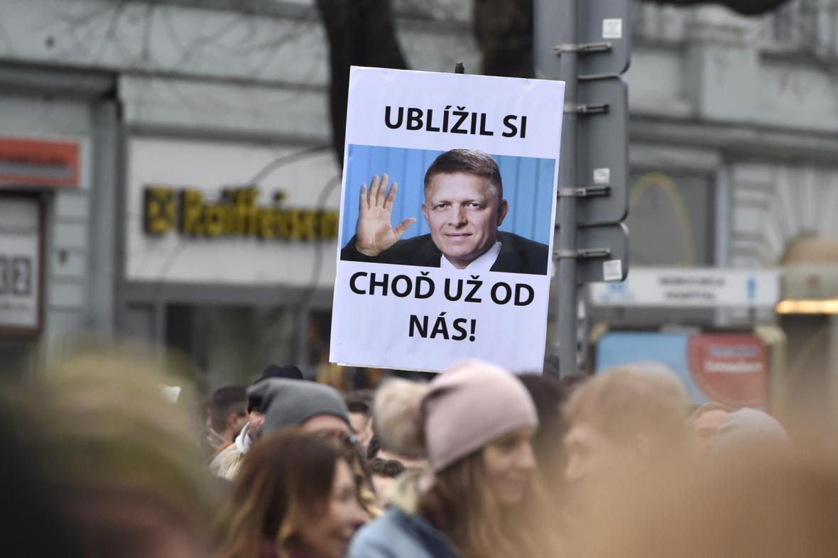 Protivládní demonstrace na Slovensku