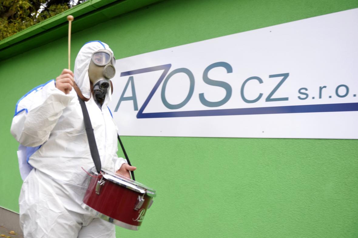 Demonstrace proti lakovně Azos v Nymburku (30.9.2015)