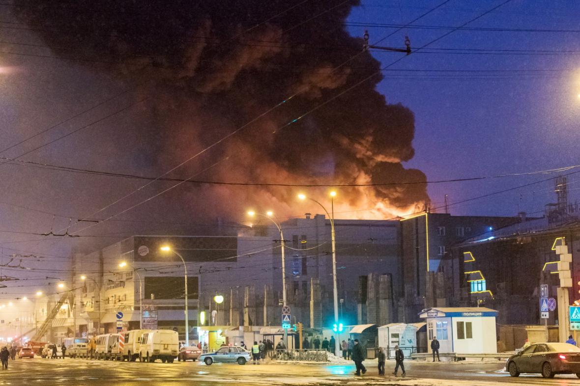 Požár zábavního centra v Kemerovu