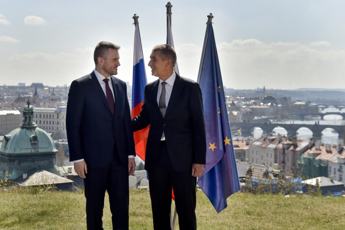 Peter Pellegrini a Andrej Babiš
