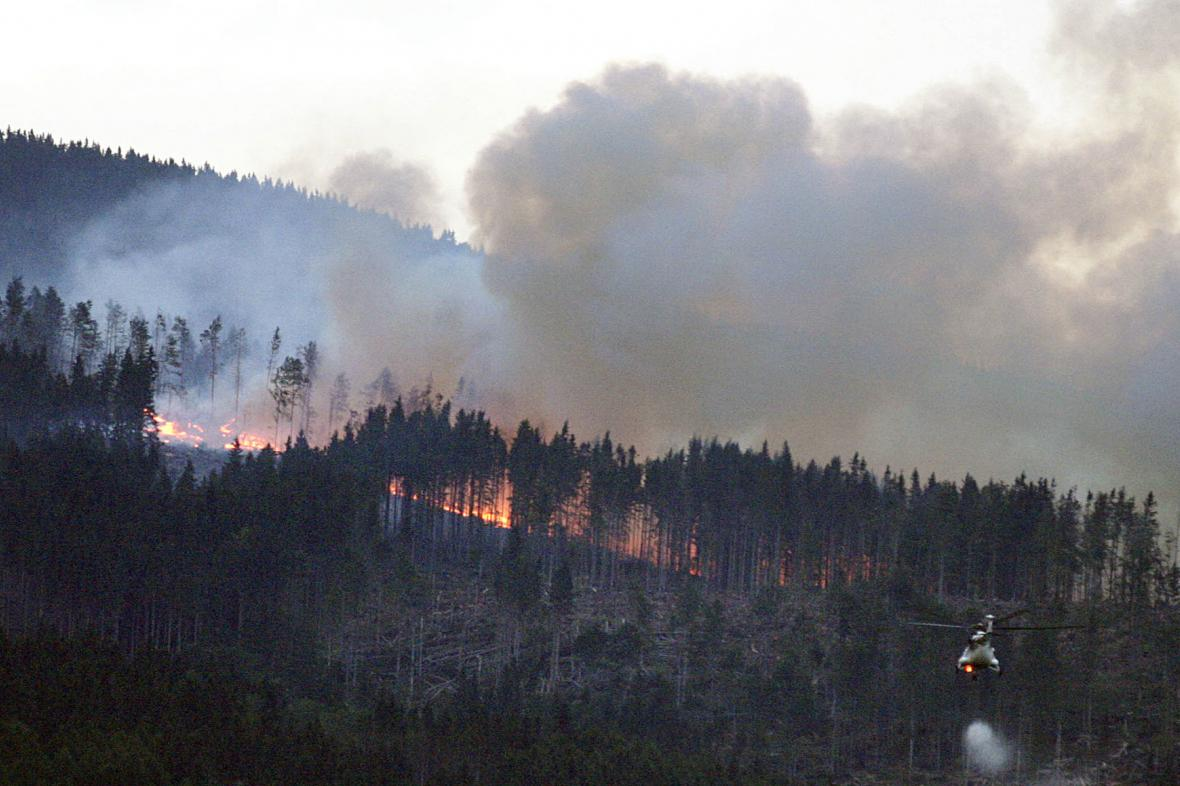 Požár v Nízkých Tatrách