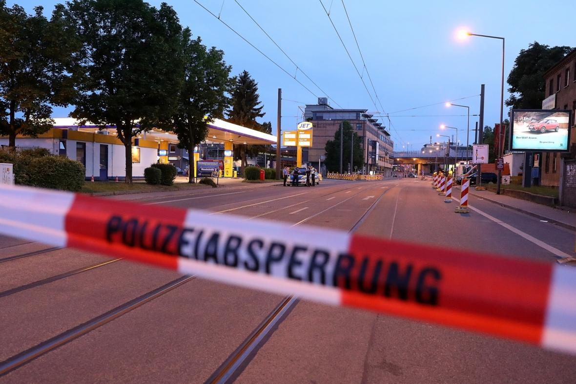 Evakuovaná zóna v Drážďanech