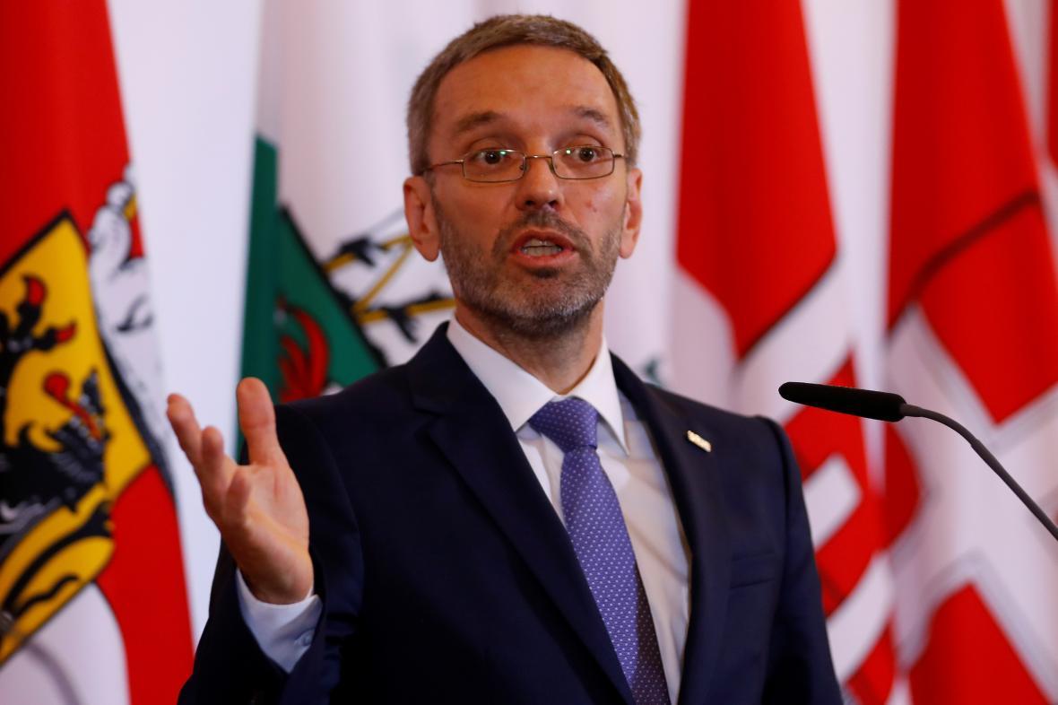 Rakouský ministr vnitra Herbert Kickl