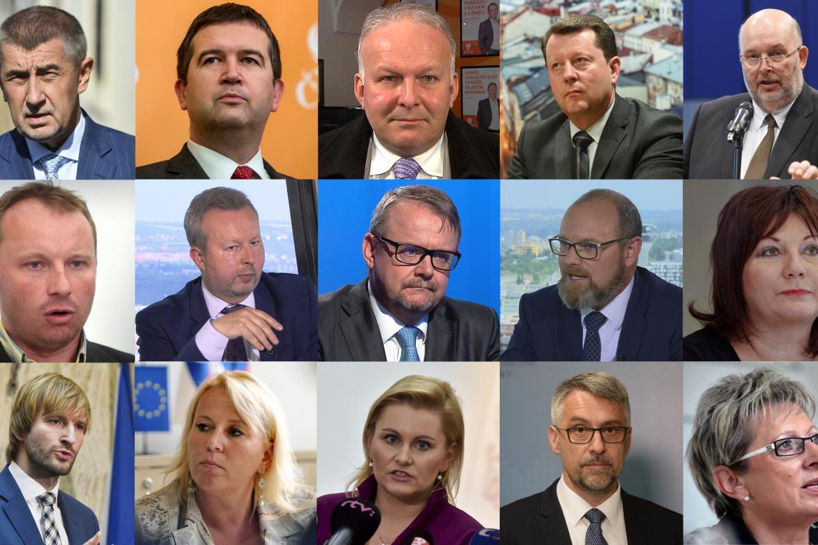 Kandidáti na ministry v nové vládě