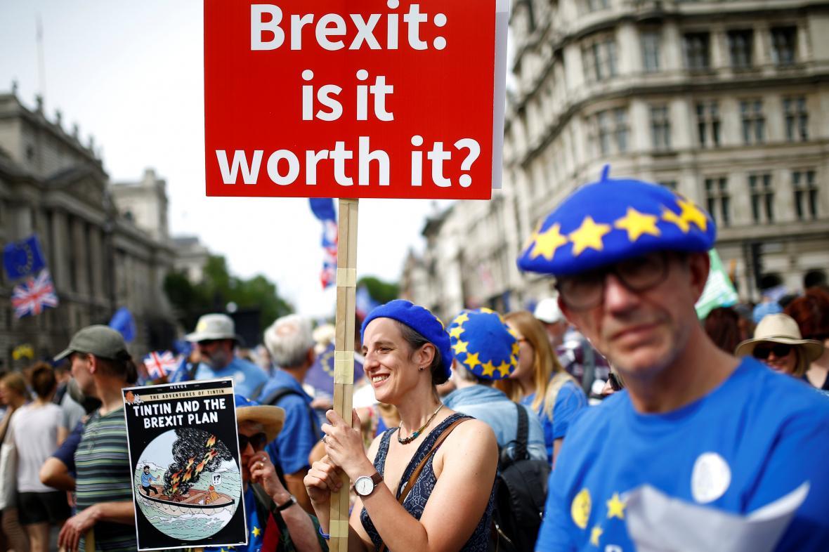 Demonstrace za nové referendum o brexitu
