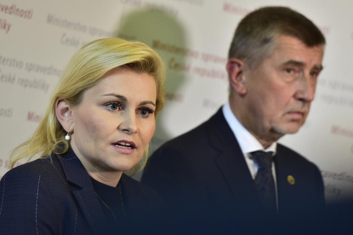Taťána Malá a Andrej Babiš