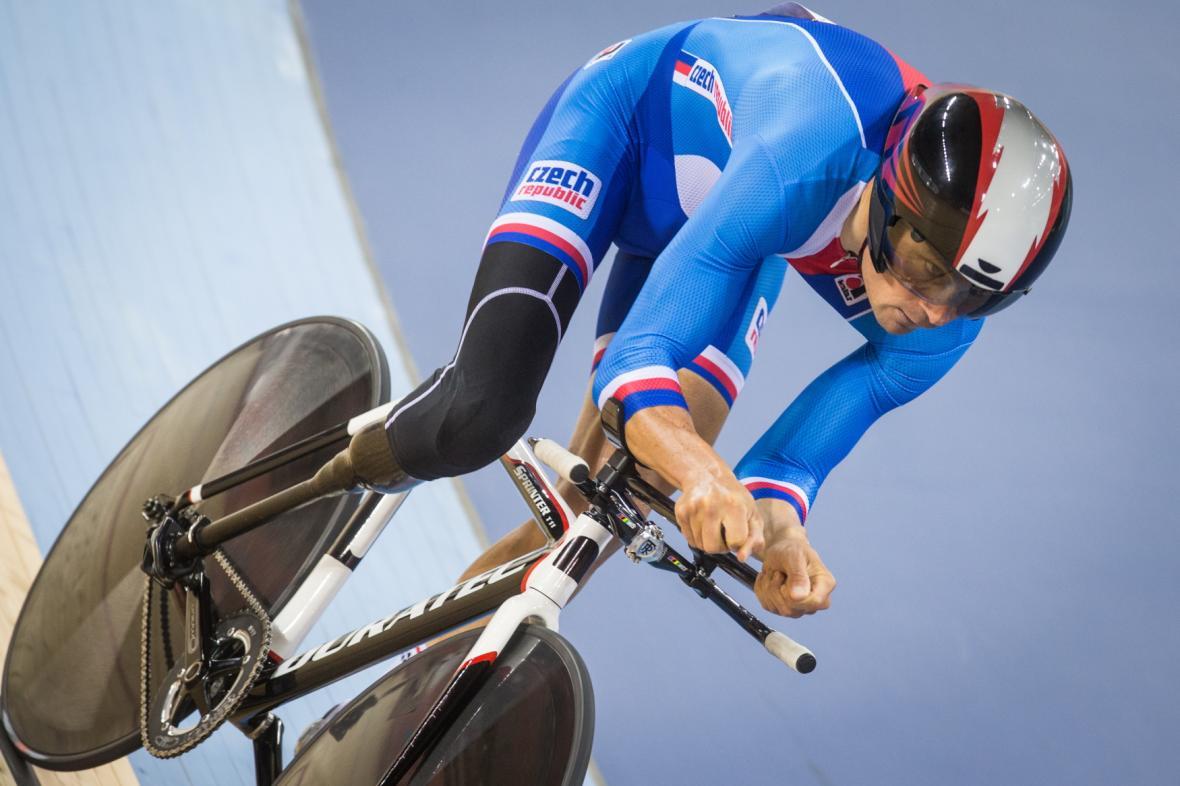 Jiří Ježek na paralympiádě v Londýně v roce 2012, kde získal zlato v silniční časovce
