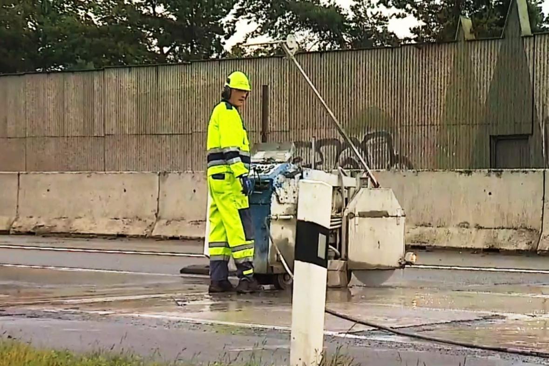 Oprava dálnice D1 u Velkého Meziříčí