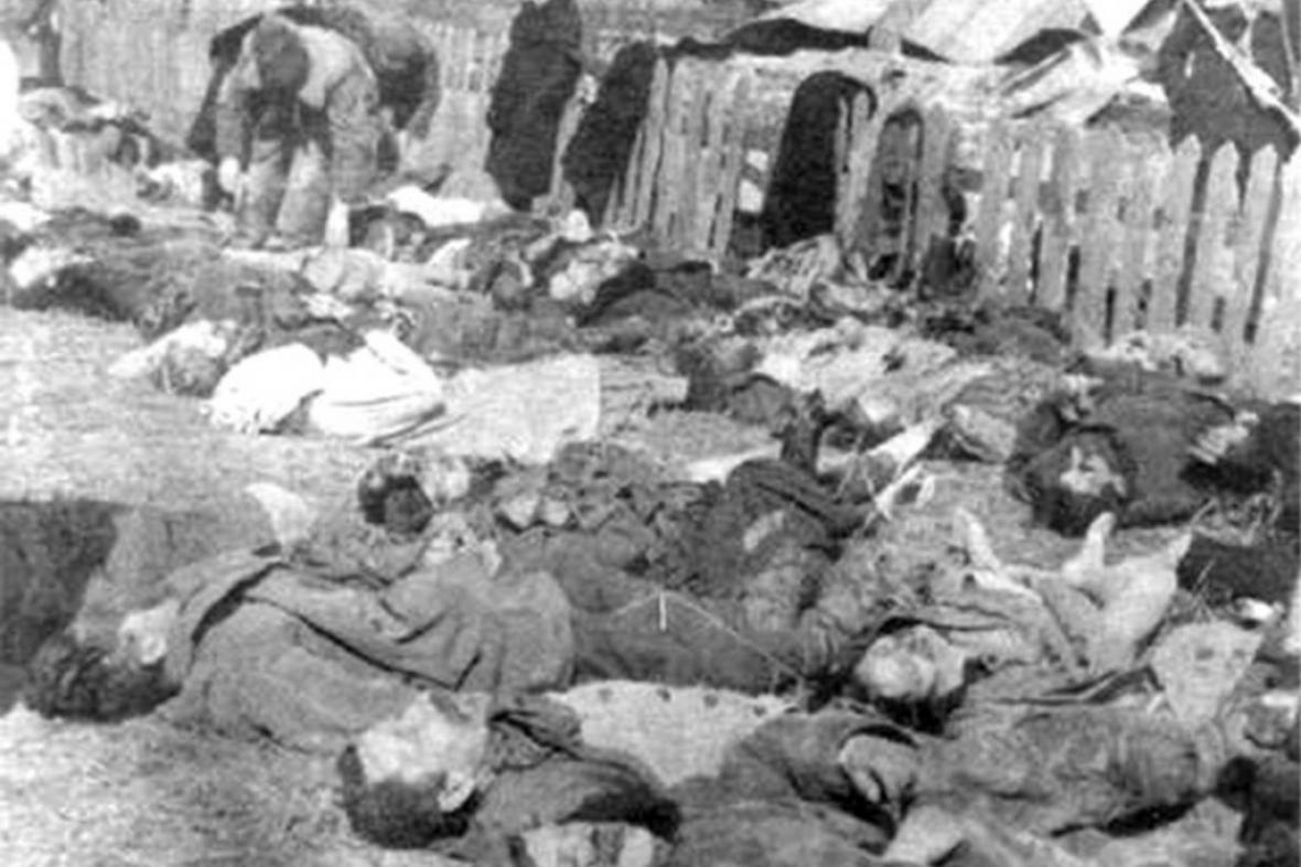 Masakr Poláků v obci Lipniki