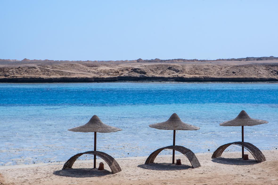 Pláž v Egyptě