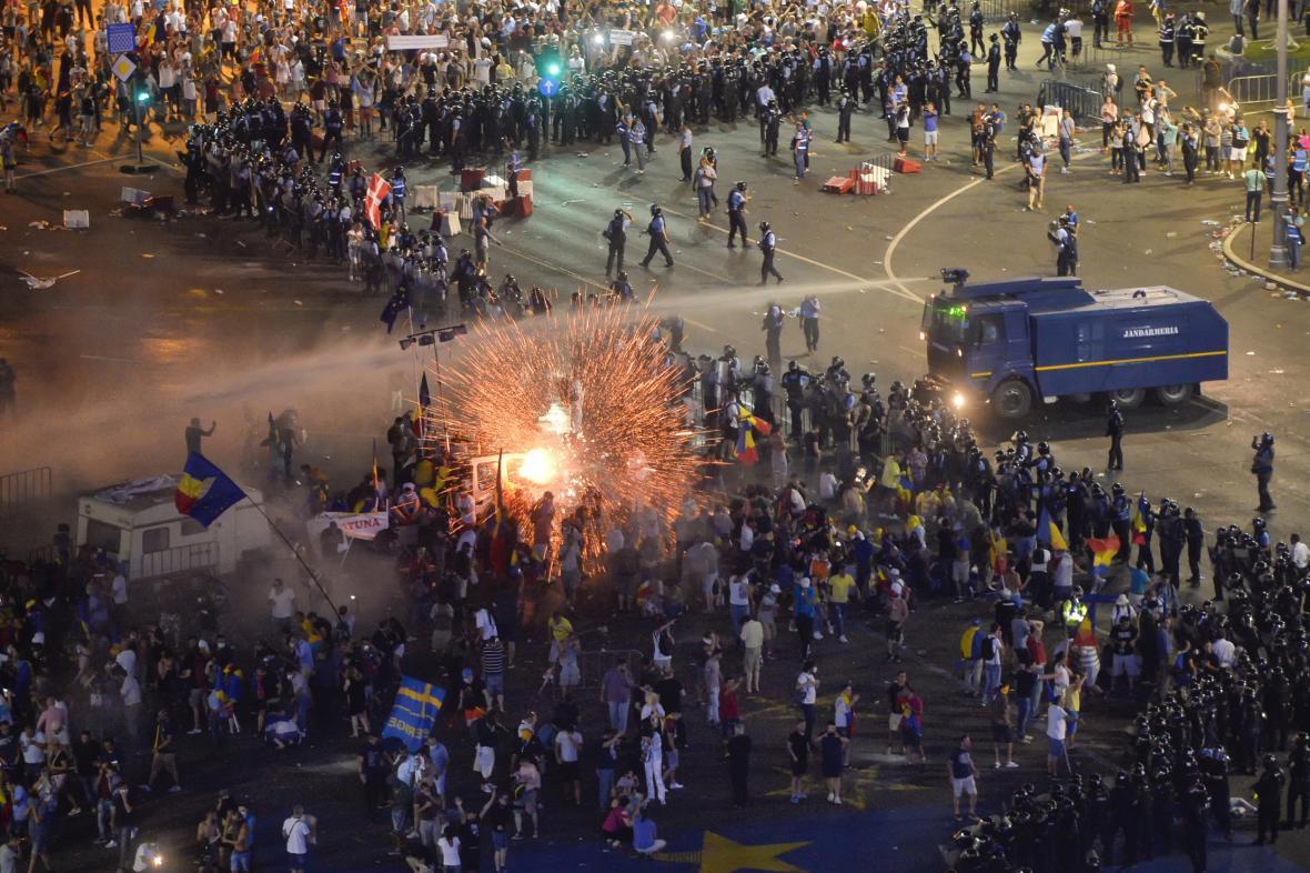Rumunské protesty proti vládě