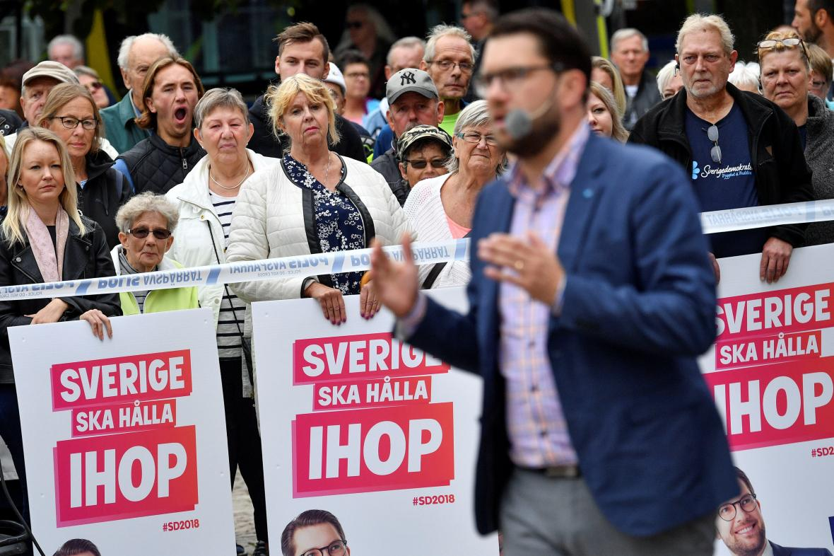 Proslov předsedy strany Švédských demokratů Jimmieho Akessona