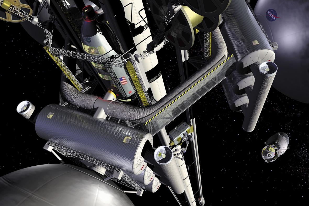 Vize vesmírného výtahu podle NASA