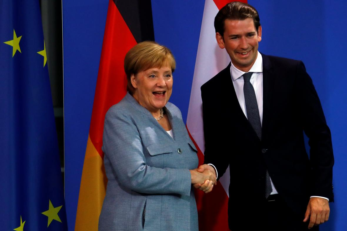 Angela Merkelová a Sebastian Kurz