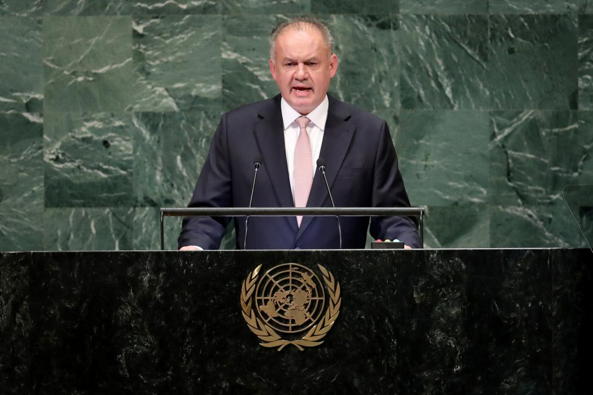Andrej Kiska na zasedání Valného shromáždění OSN