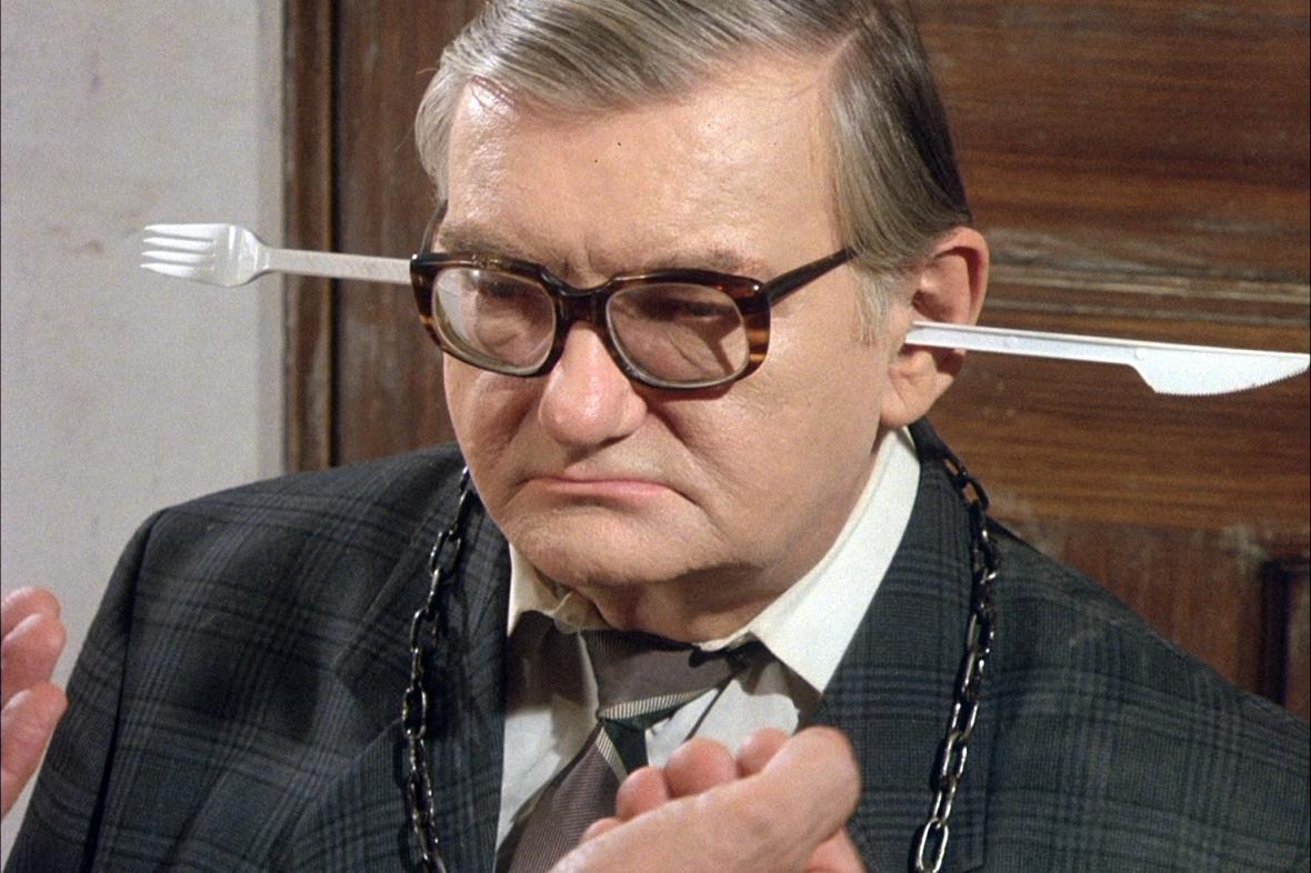 Ludvík Šváb ve filmu Jídlo (1992, režie: Jan Švankmajer)