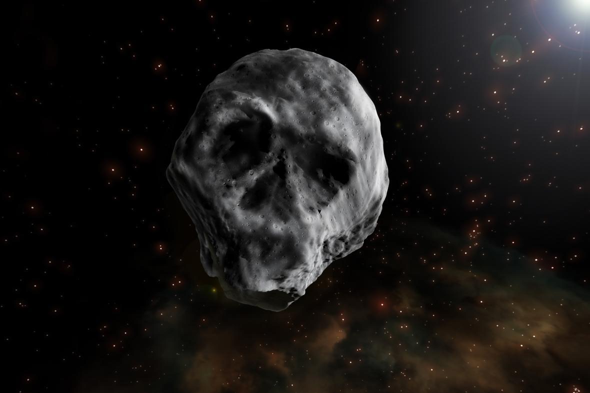 Umělecká představa o asteroidu 2015 TB145