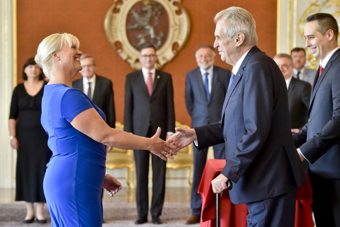 Miloš Zeman a Barbara Pořízková