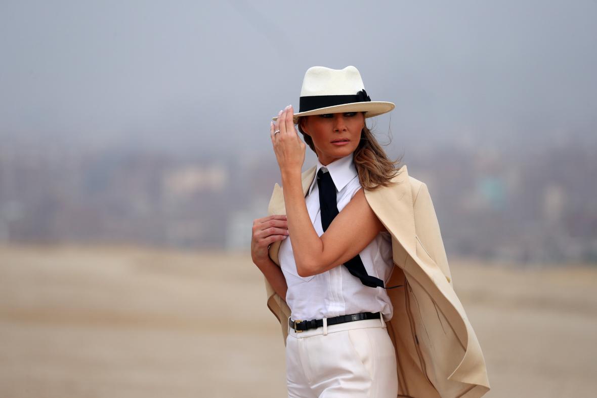 Melania Trumpová při návštěvě Egypta
