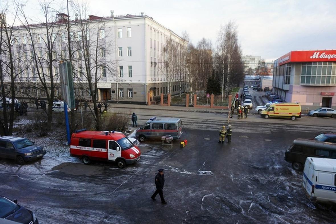Výbuch u sídla FSB v Archangelsku