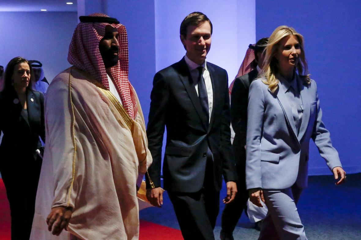 Muhammad bin Salmán, Jared Kushner a Ivanka Trumpová