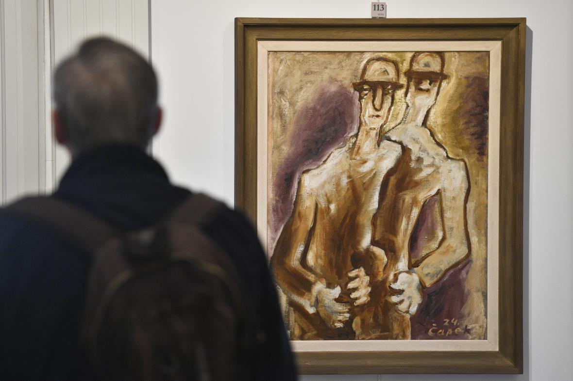 Obraz Dva chlapi od Josefa Čapka