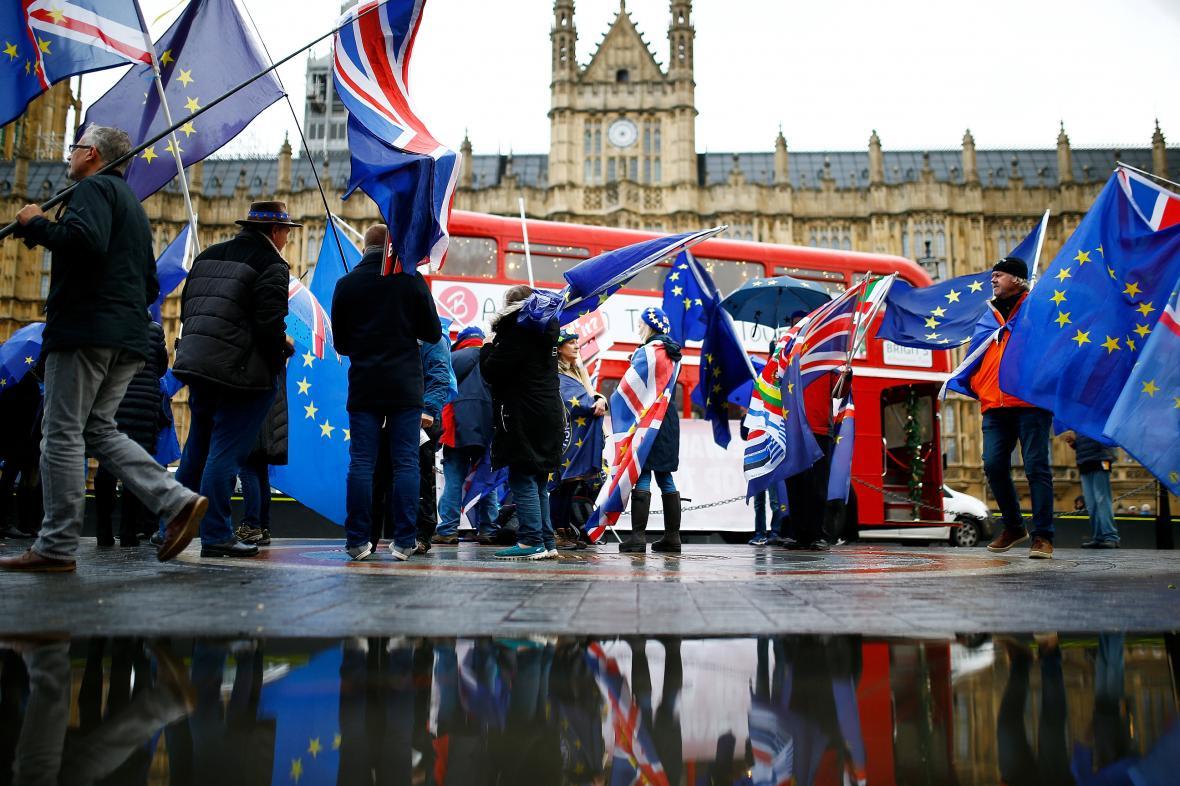 Portest proti brexitu v Londýně