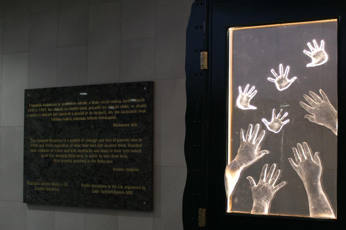 Pomník rozloučení na Hlavním nádraží v Praze