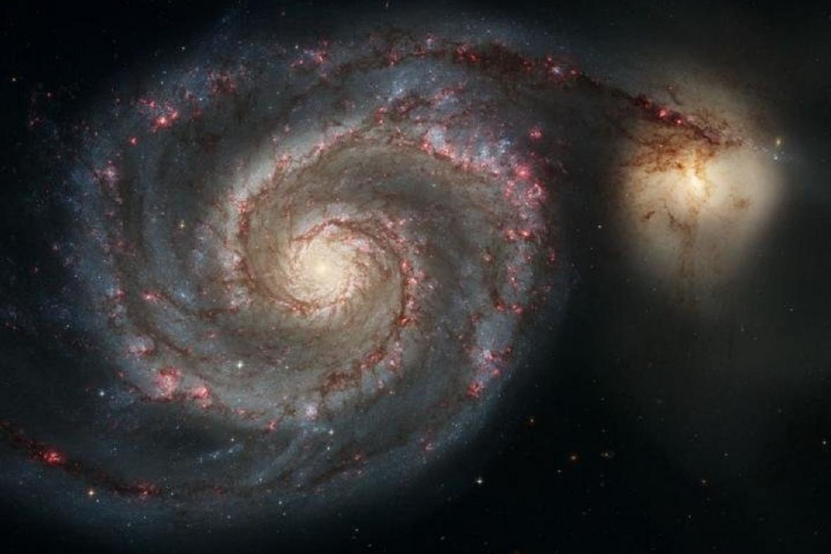 Srážka dvou galaxií