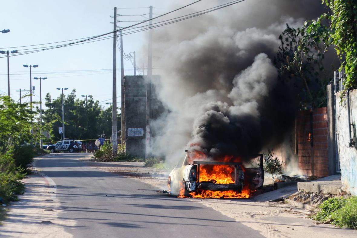 Nepokoje v brazilském městě Fortaleza