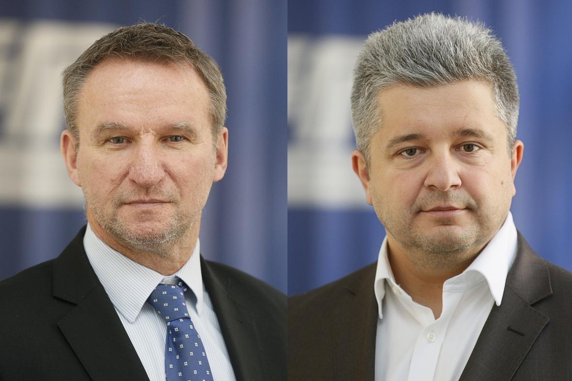 Představenstvo Českých drah doplní Michal Heřman (vlevo) a Michal Vereš