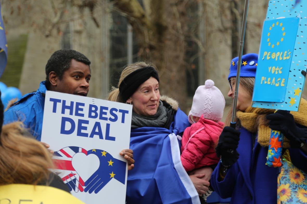 Stoupenci brexitové dohody