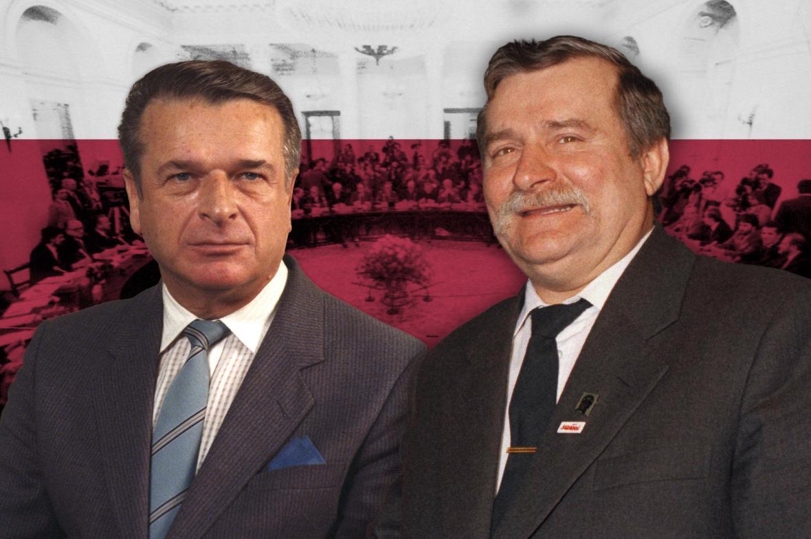 Czeslaw Kiszczak a Lech Walesa