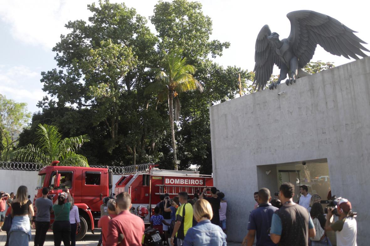 Hasiči v tréninkovém centru v Riu de Janeiru