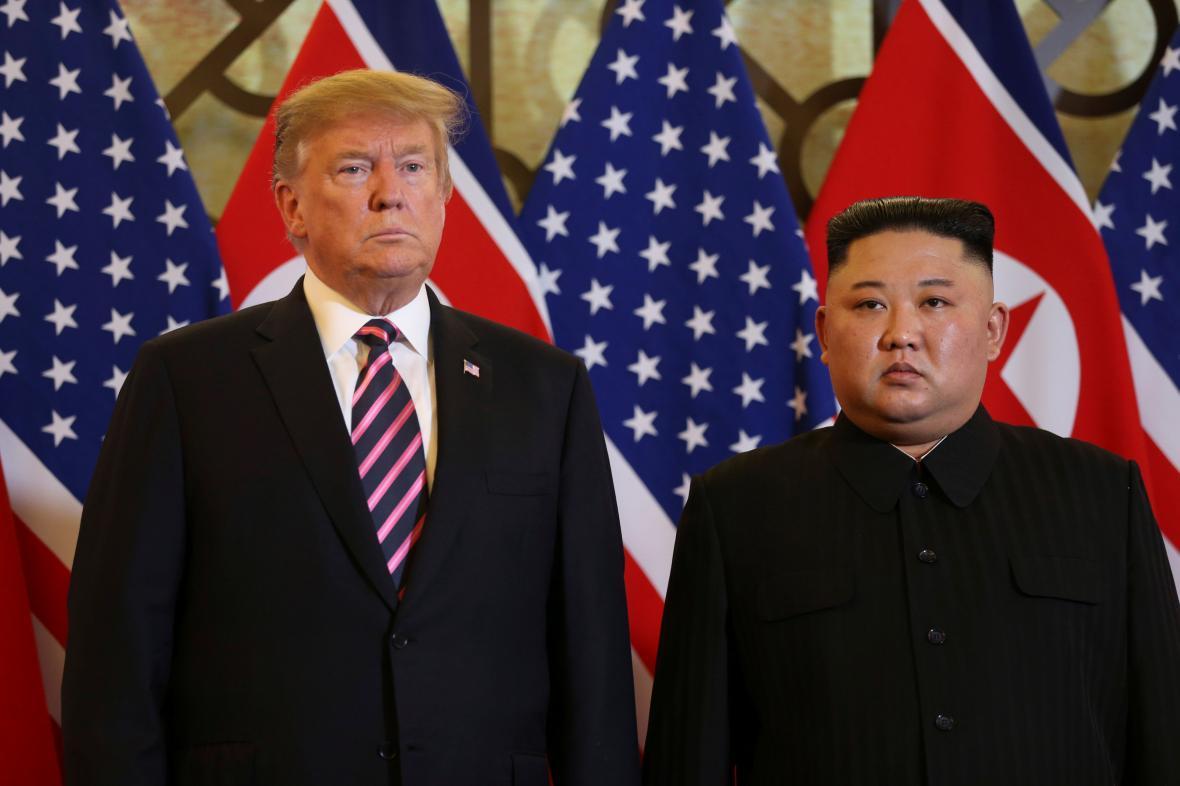 Donald Trump a Kim Čong-un na druhém společném setkání