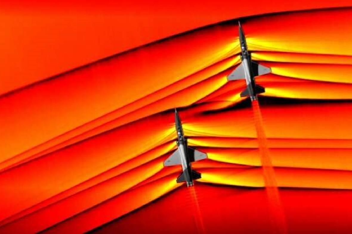 Letadla při sonickém třesku