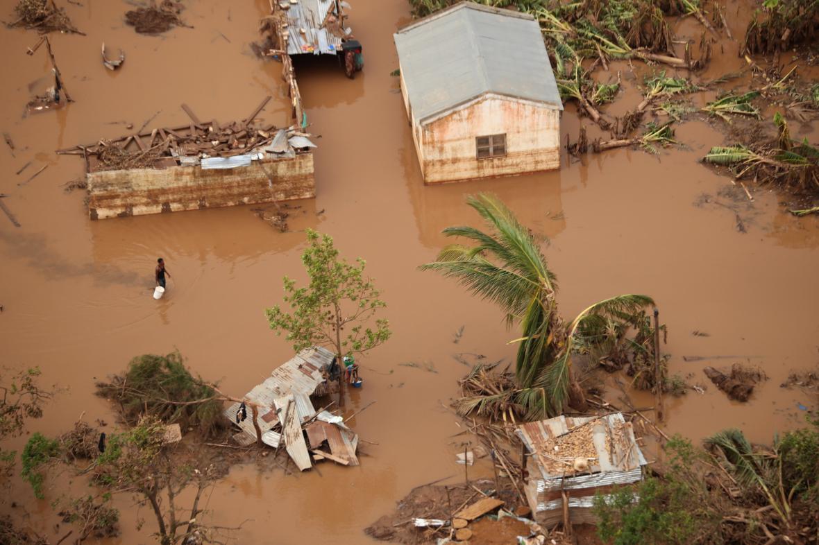 Následky cyklóny Idai v africkém Mosambiku