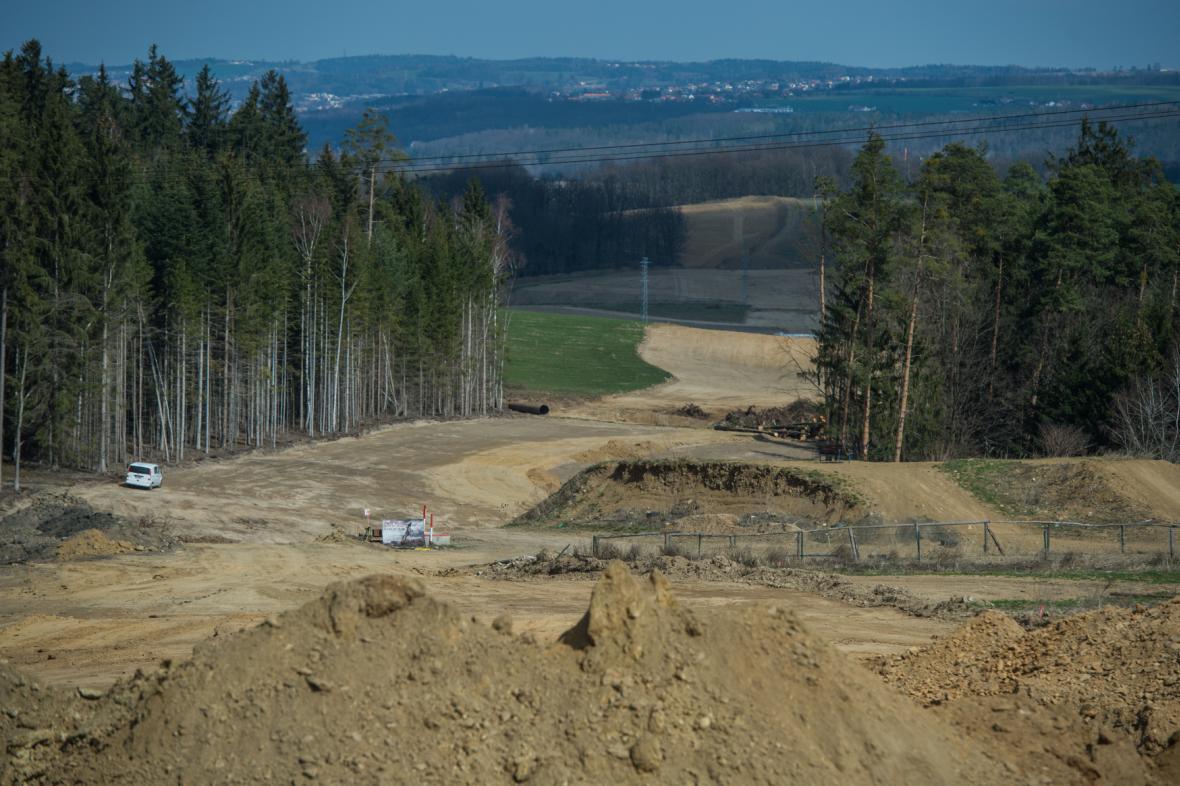 Rozestavěný úsek D3 Hodějovice-Třebonín