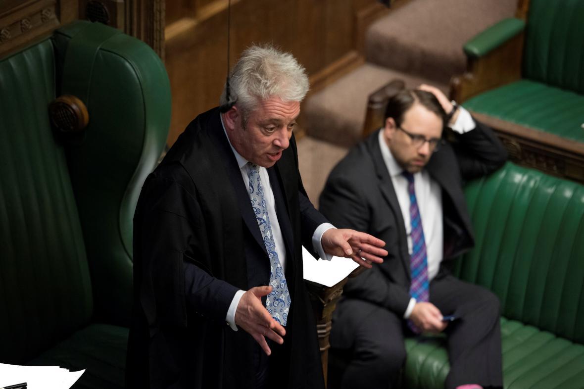 Šéf britské sněmovny John Bercow