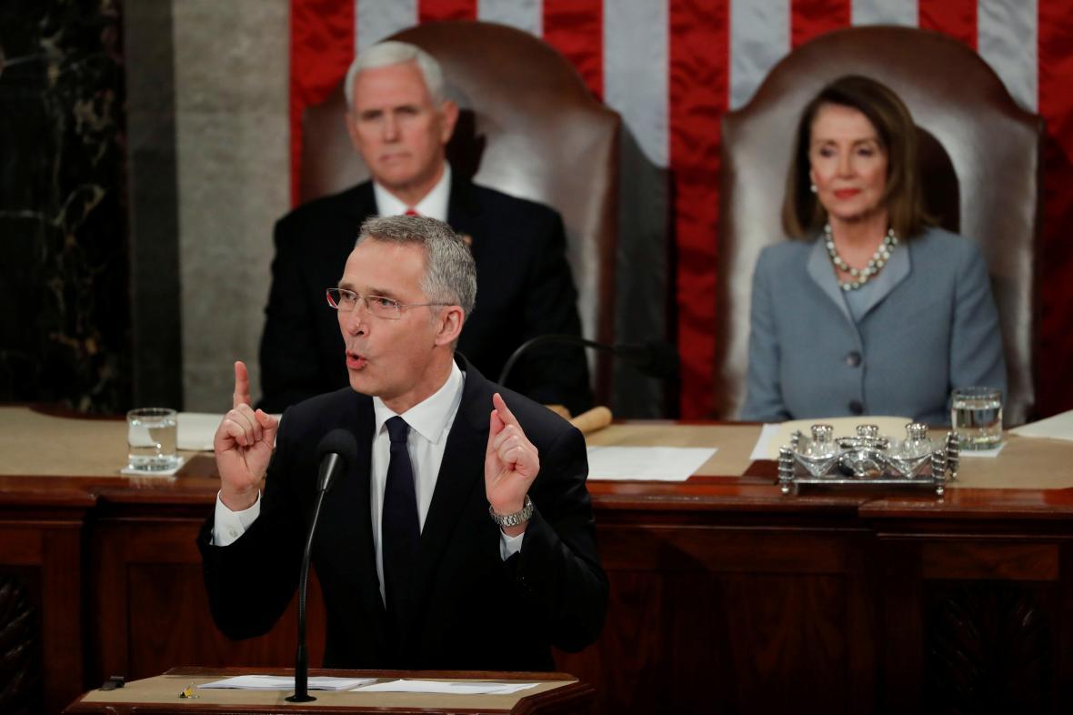 Jens Stoltenberg v Kongresu USA