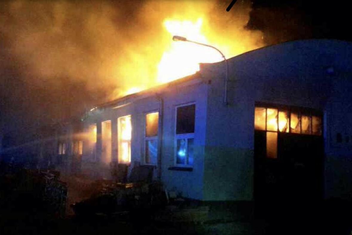Požár v Přerově