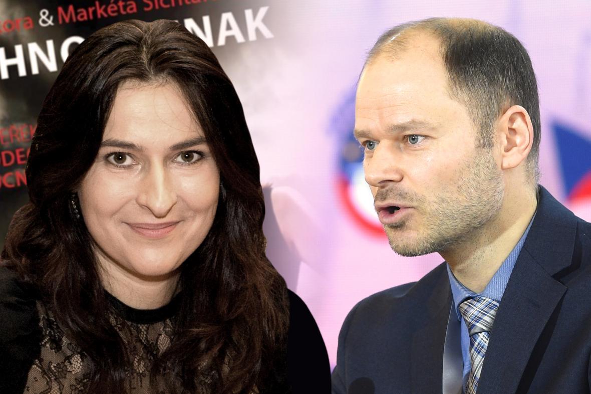 Markéta Šichtařová a Radek Špicar
