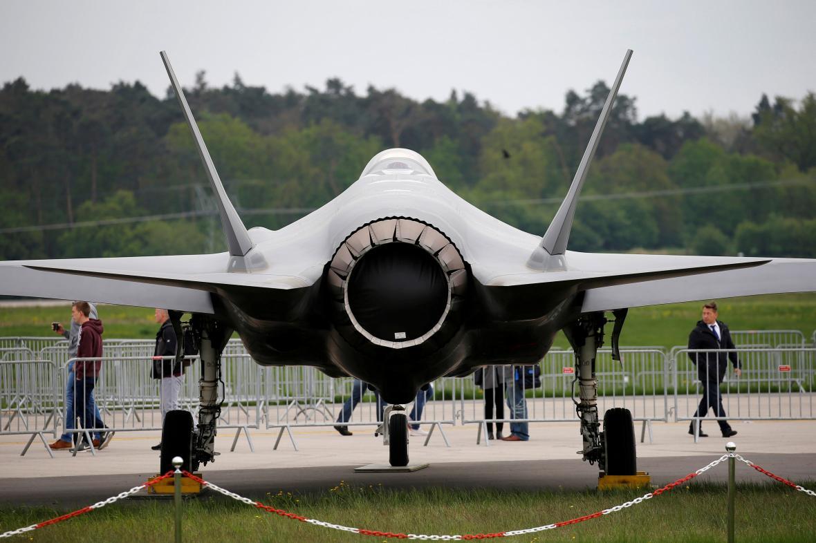 Stíhačka F-35 na letecké show v Berlíně