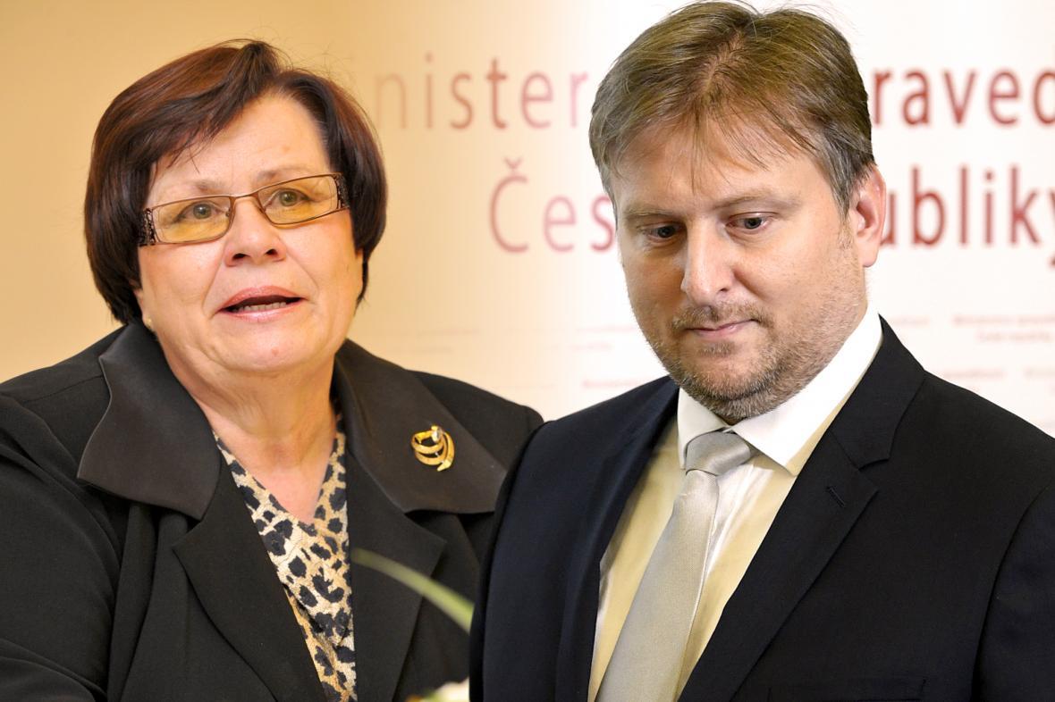 Marie Benešová a Jan Kněžínek
