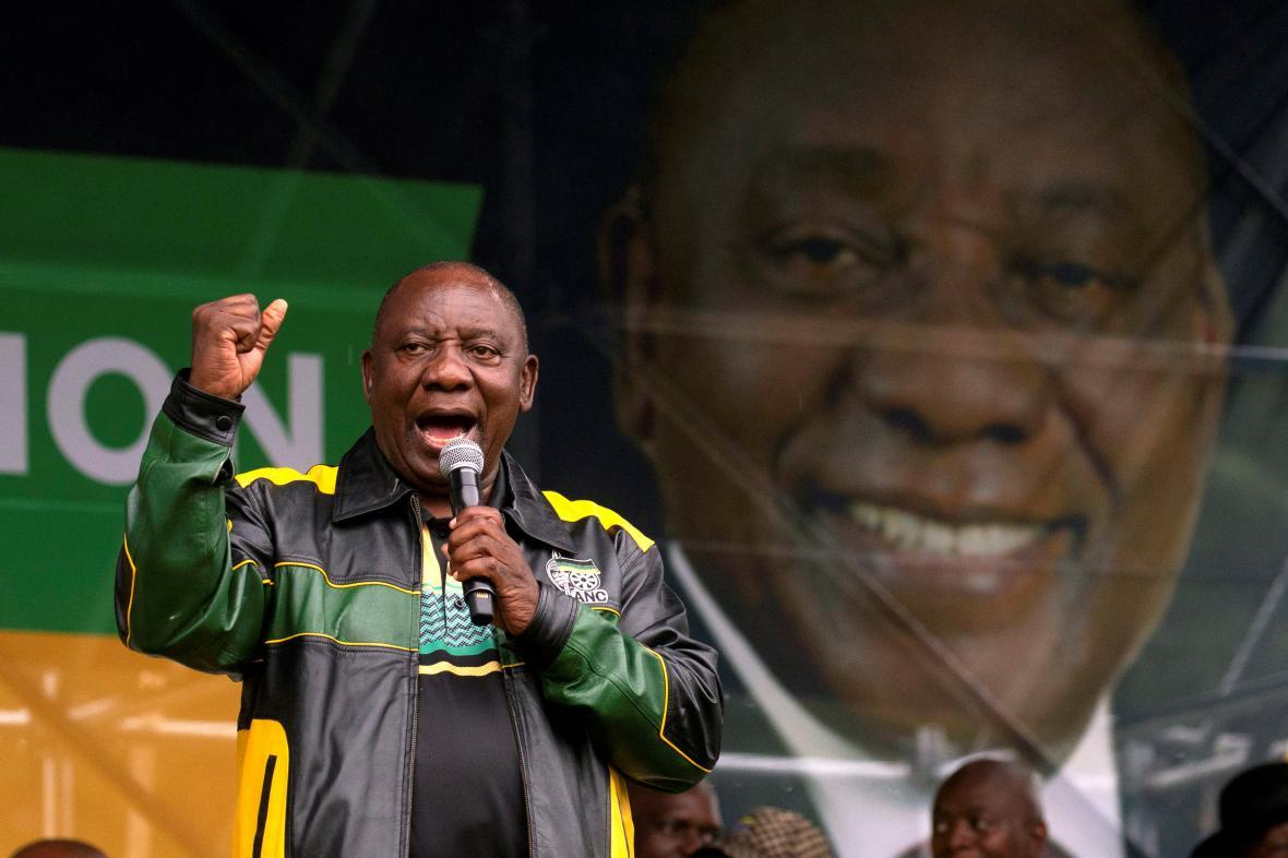 Jihoafrický prezident Cyril Ramaphosa ze strany Africká národní kongres