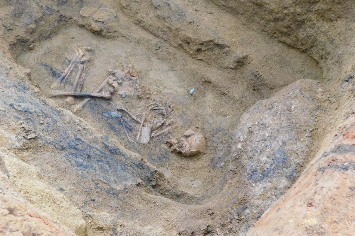 Nález pohřebiště u Slaného