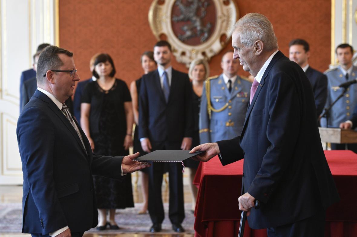 Antonín Staněk při jmenování ministrem
