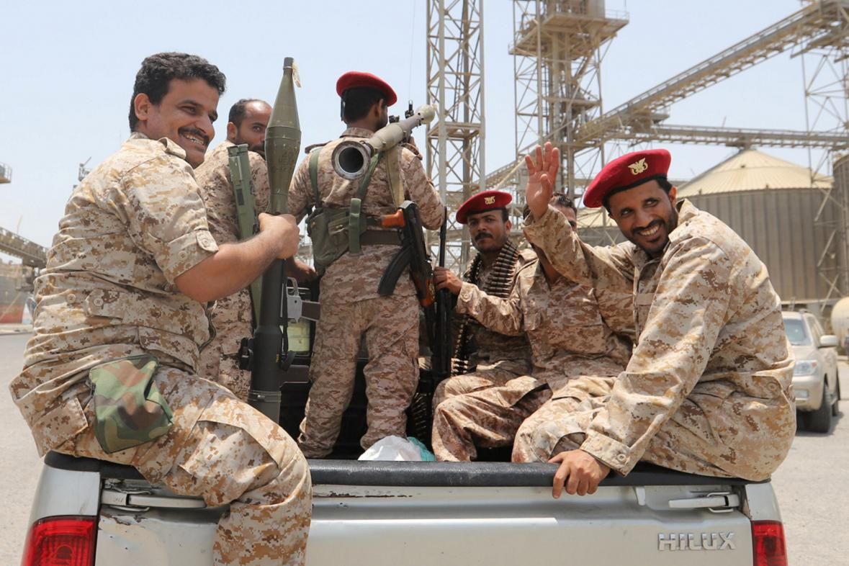 Jemenští šíitští povstalci Húsíové na snímku z počátku května